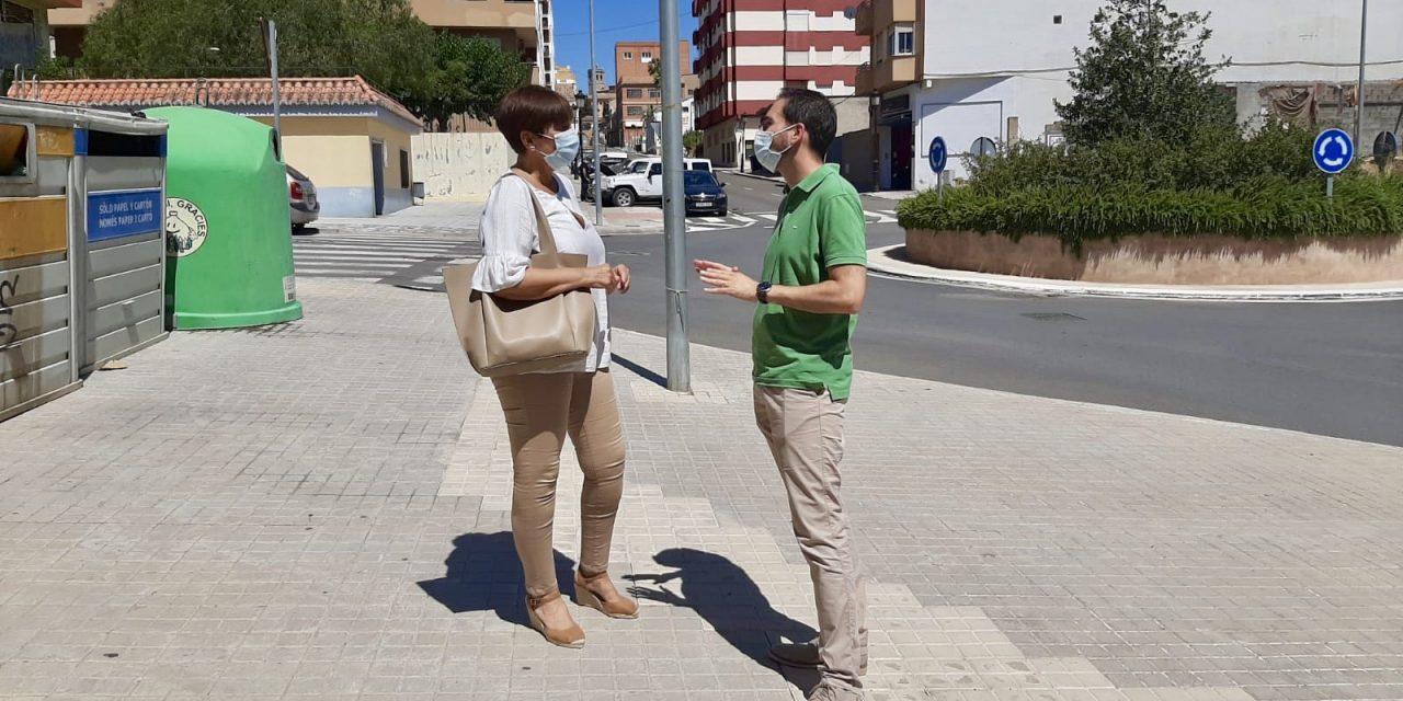 Huguet visita a las obras realizadas en Segorbe y Altura