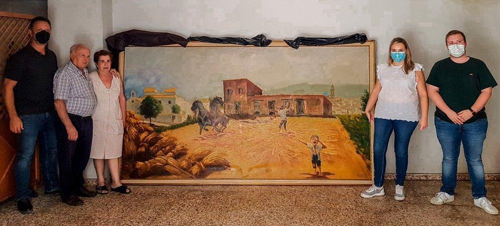 La familia Sellés-Lozano dona un cuadro de gran formato al Museo de la Memoria