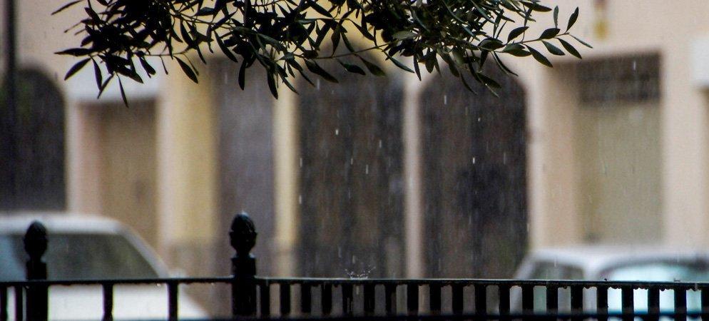 La lluvia en la comarca