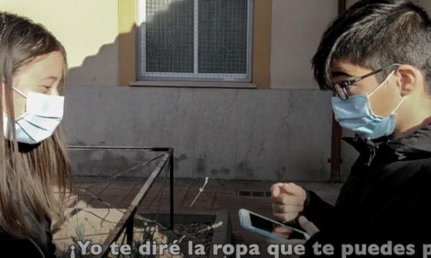 Los alumnos del IES Cueva Santa graban un video contra la violencia de género