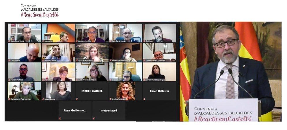 Martí se reúne telemáticamente con los alcaldes del Alto Palancia