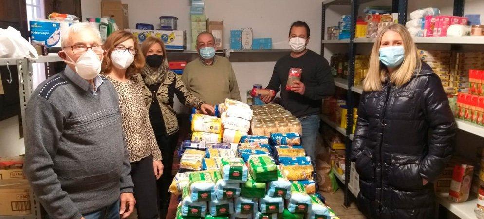 Servicios Sociales dona alimentos a Cáritas Segorbe