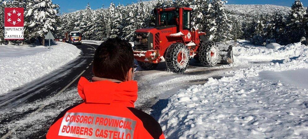 Los bomberos hacen 172 intervenciones relacionadas con la nieve