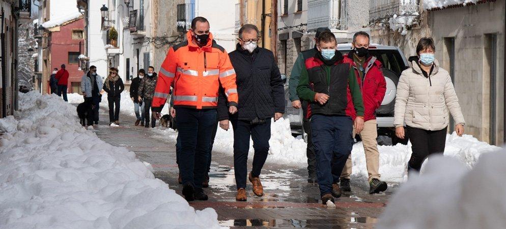 Diputación estudia conceder ayudas por las nevadas