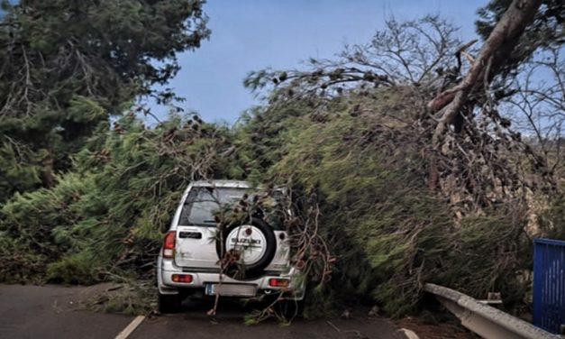 El viento provoca daños en cuatro pueblos de la comarca