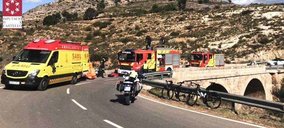 Rescatan a un ciclista despeñado en Altura