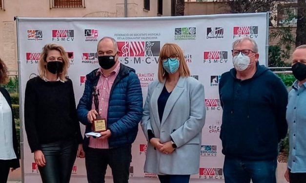 La FSMCV concede el premio Euterpe a la Unión Musical de Navajas
