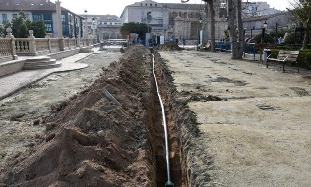 Segorbe renueva y retranquea la red de conducción de agua de la Glorieta
