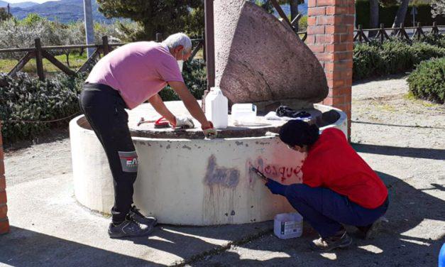 Descubren una serie de grafitis en un antiguo ruejo de aceite en Altura