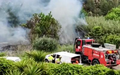 Apagado el incendio desencadenado en Segorbe  la zona de Rascaña